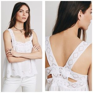 INTIMATELY FREE PEOPLE EYELET CAMPFIRE CAMI TOP XS